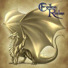 Endless Realms bestiary - Pyrite Dragon by jocarra on DeviantArt Fantasy Dragon, Fantasy Armor, Dragon Art, Dark Fantasy, Mythical Creatures Art, Fantasy Creatures, Mythological Animals, Cool Dragons, Legends And Myths