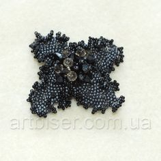 Beaded brooch :) Today we'll make this interesting flower.