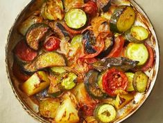 griechische-Speisen-gebacktes-Gemüse