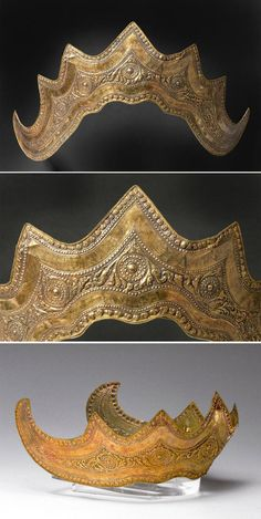 Indonesia ~ Sumatra Island, Lampung Province | Headdress; gold.  ca. 19th century