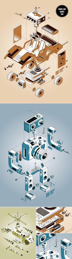 Isometric illustrations by blindSALIDA for the award winning (Cannes Lion) campaign for Duracell.