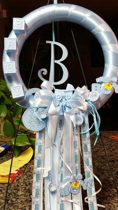 Hospital door wreath for boy