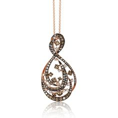 EFFY Prism Espresso & White Diamond Pendant in 14k Rose Gold