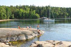 JUNI: Altså, Stockholms skjærgård, det er skikkelig barndomssommer for meg. Foto: Tenk Koffert Dream Life, Stockholm, Fire, Mountains, Nature, Travel, Summer, Naturaleza, Viajes