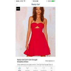 #NowTrendingOnMiner this red strapless dress from #nastygal perfect for the 4th of July weekend