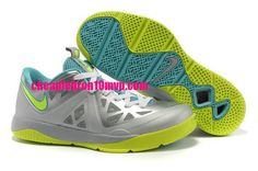 Cheap Lebron ST II Lebron James Shoes 2013 Metallic Silver Volt Mint Green 579743 001 Cheap Lebron James Shoes