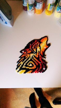 Pigs Wolf Template Mask Little 3 - DIY and crafts Perler Bead Designs, Easy Perler Bead Patterns, Melty Bead Patterns, Perler Bead Templates, Hama Beads Design, Diy Perler Beads, Perler Bead Art, Pearler Beads, Beading Patterns