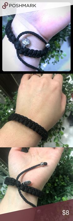 Unisex Macrame bracelet. Expandable!! 💗 Handmade Unisex Macrame Black bracelet. Handmade by me 😊😊 Has St.Benedict medal but can also custom make to your liking 😉 leave me a comment!! MaskeeCr8tions Jewelry Bracelets
