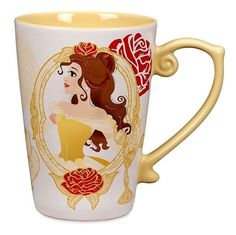 DISNEY PARKS NEW 16 oz PRINCESS COFFEE MUG TEA CUP BELLE BEAUTY AND THE BEAST #DisneyWorldDisneylandWDWDLRParkStore