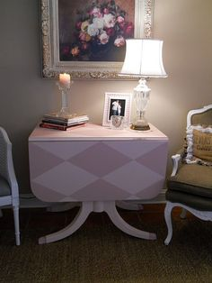pink harlequin table