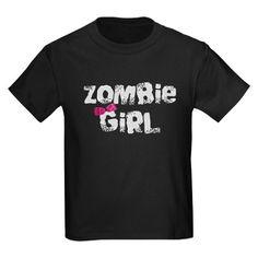 Zombie Girl T on CafePress.com