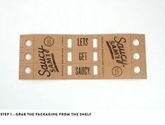 Branding Packaging Ideas Saucy Sam's alex register design