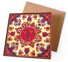 Carte Postale India avec enveloppe : Cartes par cutefashionista