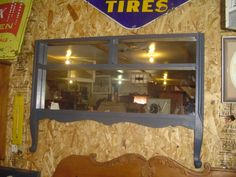 Bloomfield Treasures - Repurposed - Old dresser front repurposed into a mirror