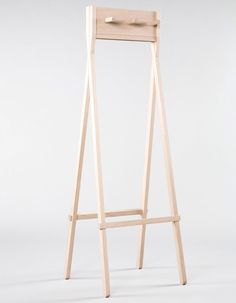 Coat rack. American industrial designers Colin Stief and Chris Skodi have developed the 'amishmade' collection under the teaching   of amish craftsman Levi Fisher.