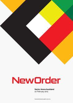 New Order tour poster. Portfolio - Design Dialogue
