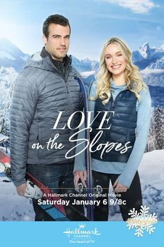 Love on the Slopes - Katrina Bowden and Thomas Beaudoin seek out adventure and romance in the first Winterfest movie of 2018! #HallmarkChannel #Winterfest #LoveOnTheSlopes