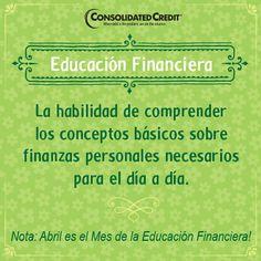 Definición 1: Educación Financiera: La habilidad de comprender los conceptos básicos sobre finanzas personales necesarios para el día a día #finanzaspersonales #finanzas #dinero#FinanzasLatinos