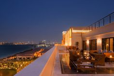 Terrace view from Jumeirah Zabeel Saray, Dubai.