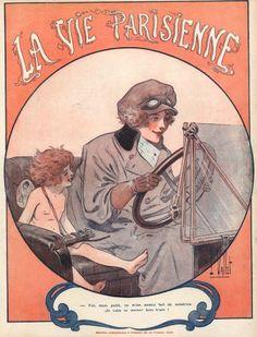 """""""La Vie Parisienne"""", 1917 - Cover art by Louis Vallet"""