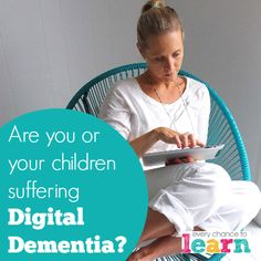 Digital Dementia Dementia, Parenting, Technology, Learning, Digital, Children, Health, Tech, Young Children