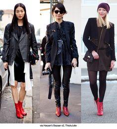 """ankle boots vermelha"" - Pesquisa Google"