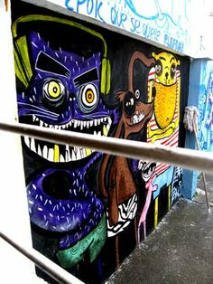mural casafans.aerosol y acrilico.