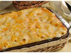 Baked Rigatoni with Bacon and Four Cheese
