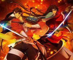 Izuminokami Kanesada & Mutsunokami Yoshiyuki    Learn more about the Katsugeki version of Touken Ranbu and how it'll be different from Hanamaru here: https://creators.co/@thesilveryokai/4313087