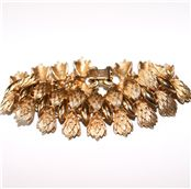 Coro - Coro Gold tone Bracelet at Tjinona.se