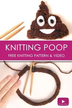 How to Knit the POOP Emoji with Studio Knit via @StudioKnit