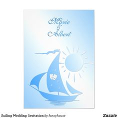 Sailing Wedding  Invitation