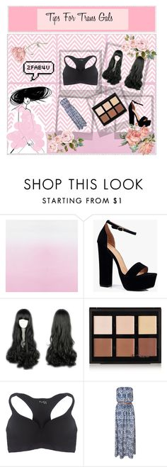 """Tips For Trans Gals"" by dokisugarhime ❤ liked on Polyvore featuring Polaroid, Boohoo, Anastasia Beverly Hills, Wet Seal, Glamorous, transgender, transpride, maletofemale and plus size clothing"