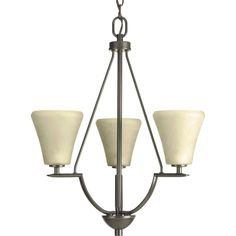 Progress Lighting Bravo Antique Bronze Transitional Tinted Glass Chandelier at Lowe's. Three-light chandelier/foyer with downwards facing etched umber linen glass from the Bravo collection. Linear elements stream throughout the fixture to