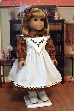 Fall Dress and Pinafore for Dolls like Nellie and Samantha by BabiesArtUs.