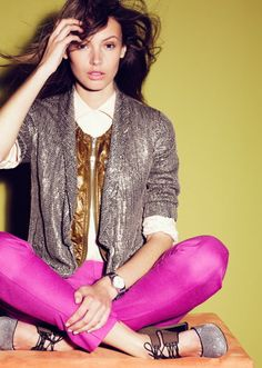 Sparkle and Colour by J.Crew. (also: Mona Johannesson is how pretty? too pretty.)