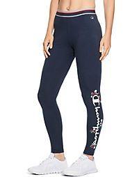 53ce6d05be927 Champion Women's Authentic Leggings, Floral & Script Logo Champion  Store, Athletic Pants,