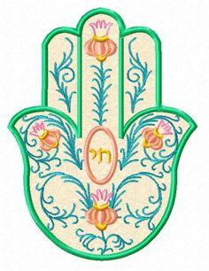 Hamsa Art, Hamsa Design, Stitch Witchery, Jewish Art, Mandala Painting, Hand Of Fatima, Applique Embroidery Designs, Elsa, Tallit