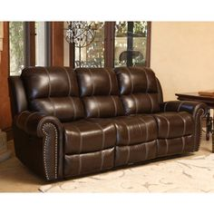 Abbyson Tatum Power Reclining Sofa - SK-1310-BRN-3