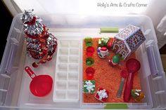 Holly's Arts and Crafts Corner: Toddler Sensory Activity: Holiday Sensory Bin