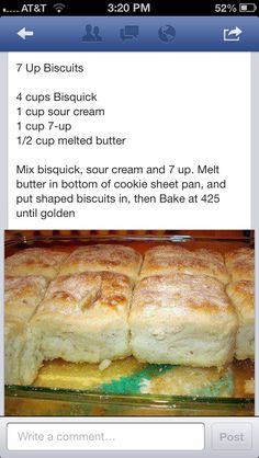 pinner writes Hard to find, awesome 7Up biscuit recipe! Best one out there according to pinners who've tried it!!