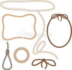 No gradients were used to create this selection of various rope. Free Clipart Images, Free Vector Art, Cowboy Girl, Placemat, Monkeys, Silhouettes, Madness, Mystery, Fonts