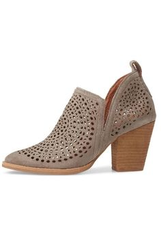 427be4cee45 Taupe Perforated Booties