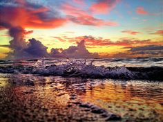 Ocean before the day begins.