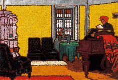Yellow Piano Room (József Rippl-Rónai - 1909)