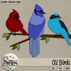 Sus Designs. CU Birds. $2.00 -STO closing sale. *