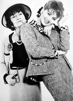 Coco Chanel and Suzy Parker, 1962. Photo by Richard Avedon.