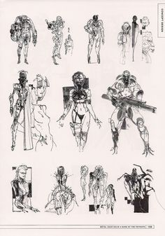 Metal Gear Solid 4 unused concept art by Yoji Shinkawa
