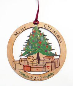 Color printed wood #ornament #woodornament #customornament