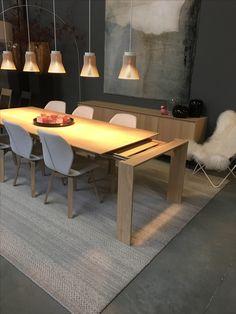 eiken tafel maatwerk mogelijk verkrijgbaar bij top interieur in izegem en massenhoven